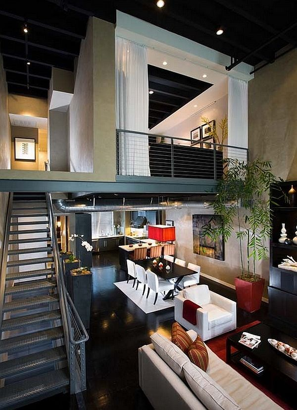 Ultra modern loft bedroom design idea