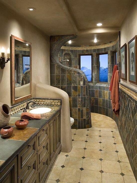 mediterranean-bathroom-with-walk-in-shower