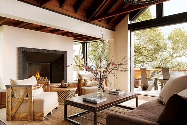 rustic-living-room-with-fireplace-and-wooden-furniture