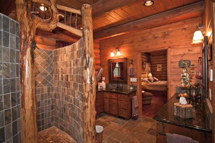 rustic-master-bathroom-with-free-standing-tub