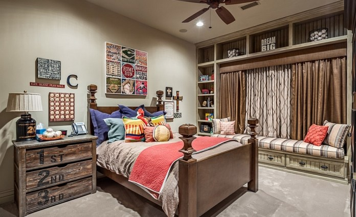 A-balanced-blend-of-rustic-and-modern-styles-in-the-beautiful-kids-bedroom