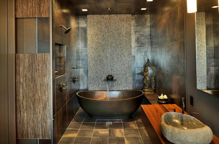 A-blend-of-contrasting-textures-in-the-contemporary-bathroom