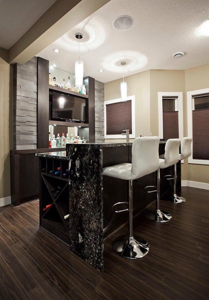 Small-contemporary-basement-bar-design