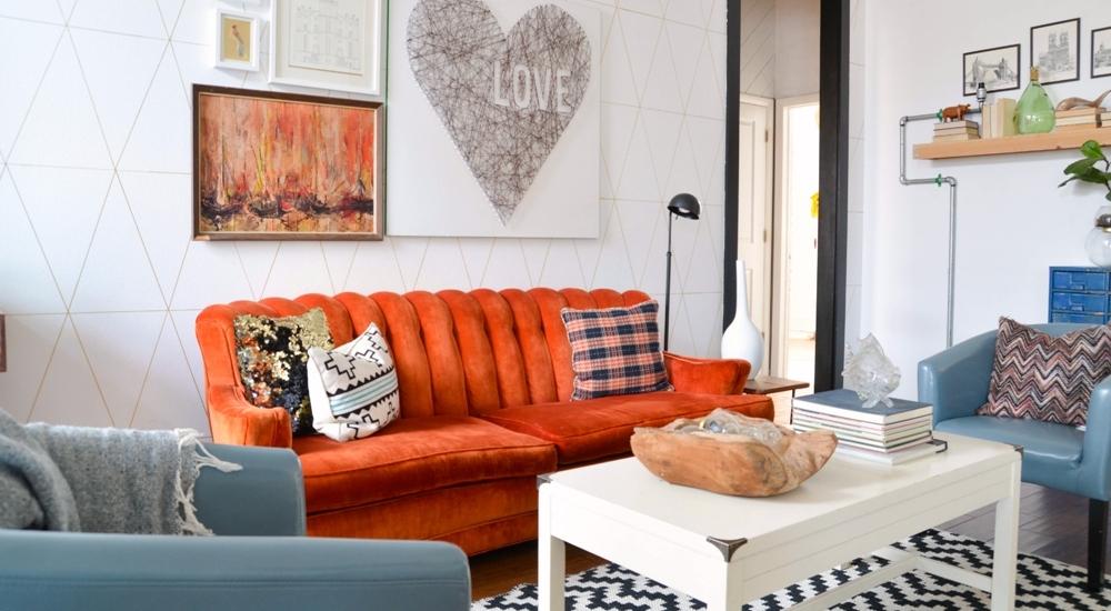 Vintage Eclectic Living Room Design