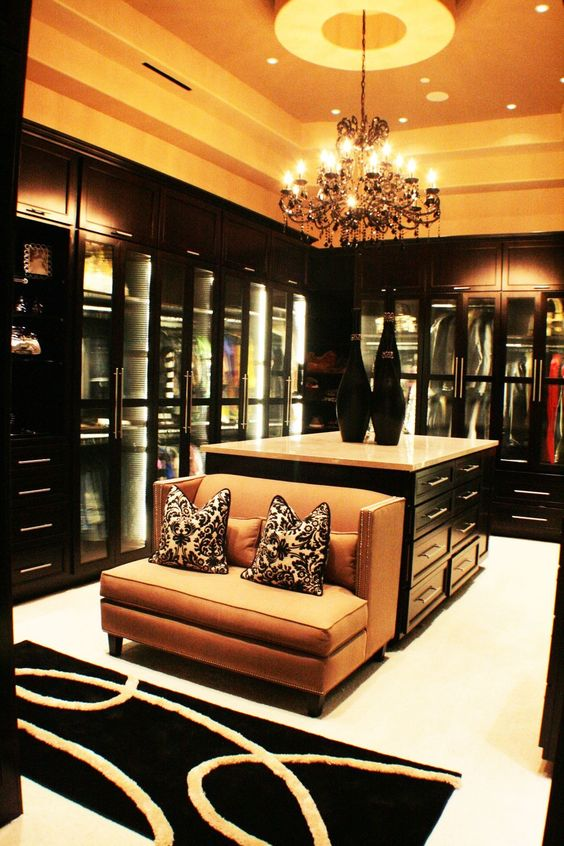Walk in closet will look like