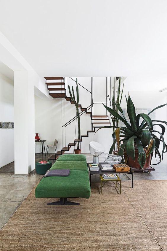 super luxurious green living room idea