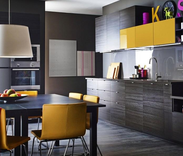 A modern dark kitchen