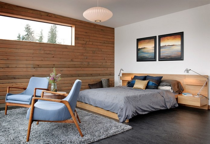 An industrial bedroom with a more modern, softer vibe