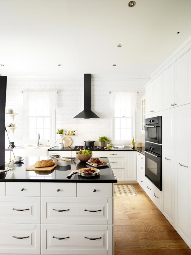 Classic Black and White Palette Kitchen