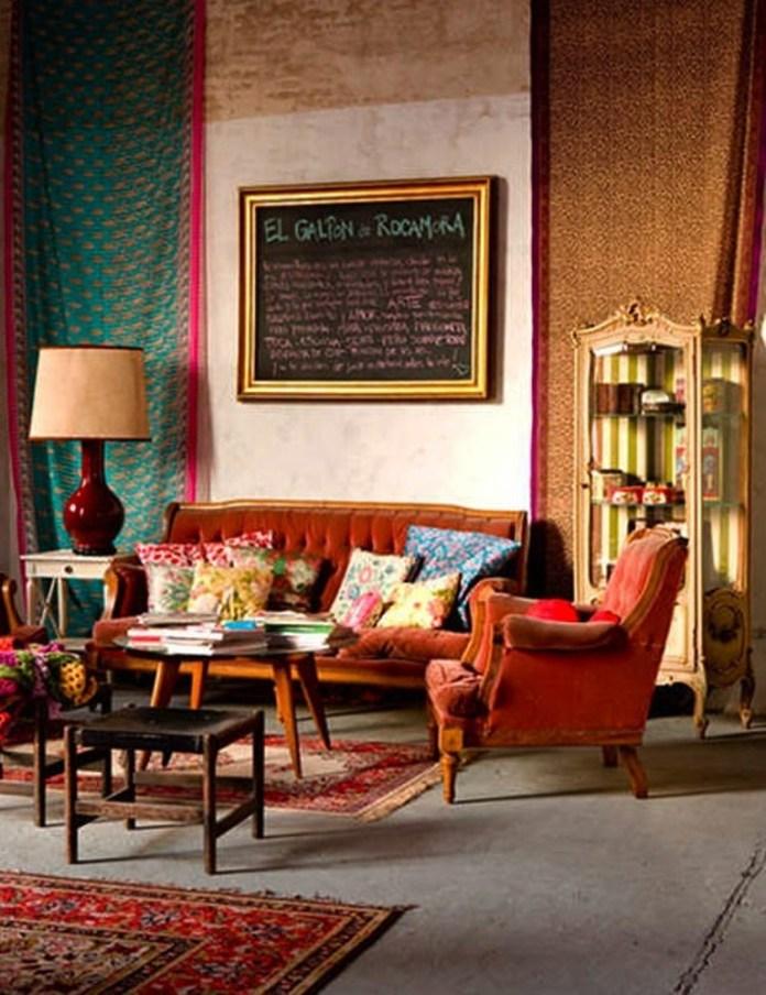 Classy Bohemian Living Room