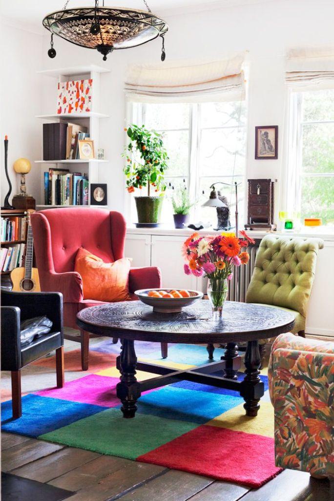 Colorful Bohemian Living Room