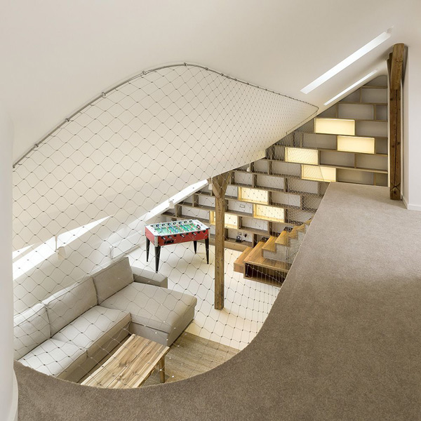 Modern Attic Basement Design