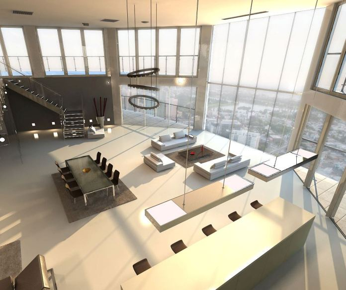 Open-plan-penthouse-design-layout