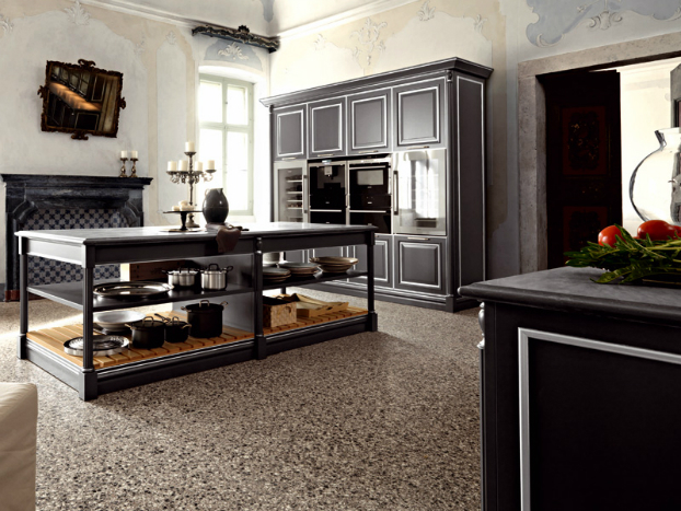 traditional painted wood kitchen design