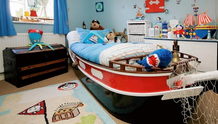 Mavelous Ship Shape Kids Bedroom Ideas Pirates Theme