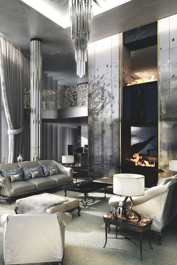 Penthouse Contemporary Living Room