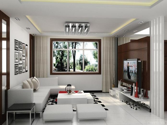 Simple Contemporary Living Room