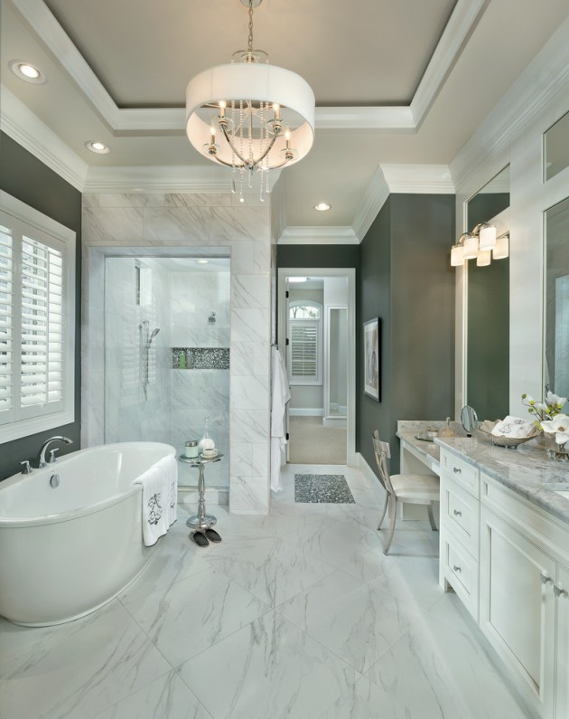 Terrific Transitional Bathroom Designs