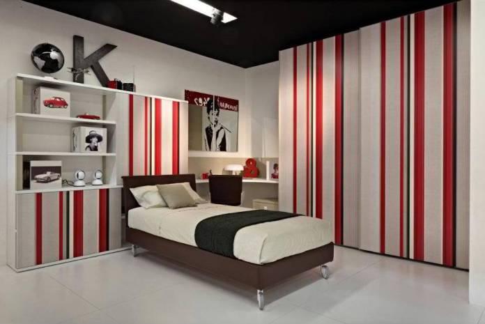 Boys Bedroom Stripped Wallpaper