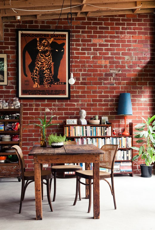 Living Room With Exposed Brick Wall (11)