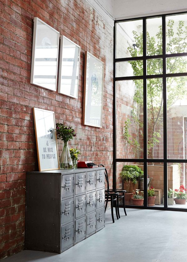 Living Room With Exposed Brick Wall (8)