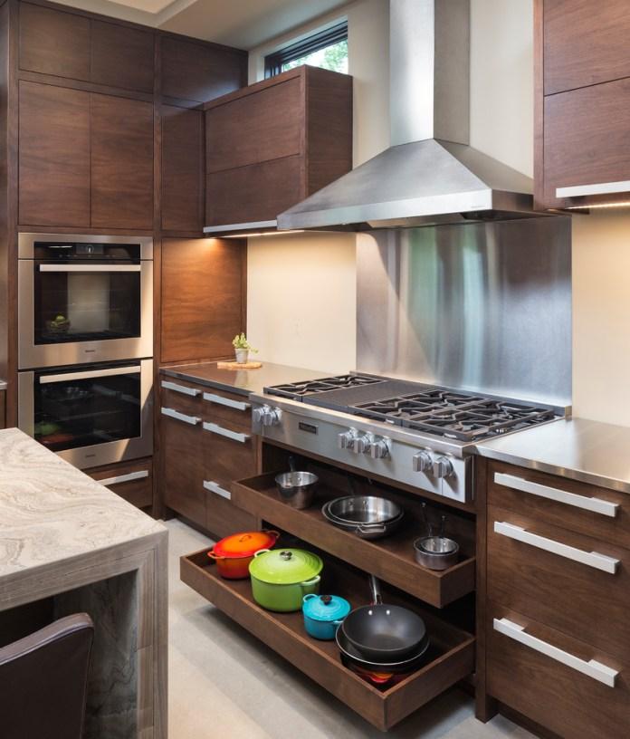 Modern Wooden Cabinets & Utensils