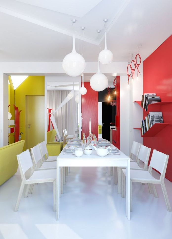 Stunning Colorful Dining Room (12)