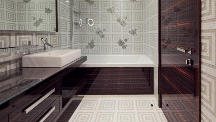 Vinyl Bathroom Wallpaper