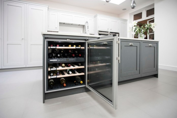 Wine Fridge In Kitchen Island1