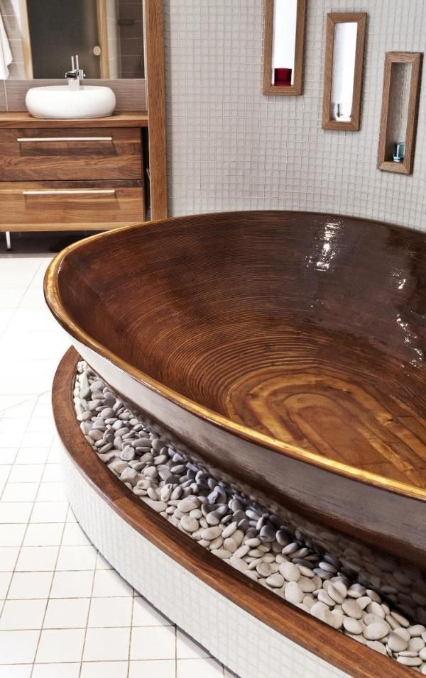 Amazing Bathrooms With Wooden Bathtub (10)