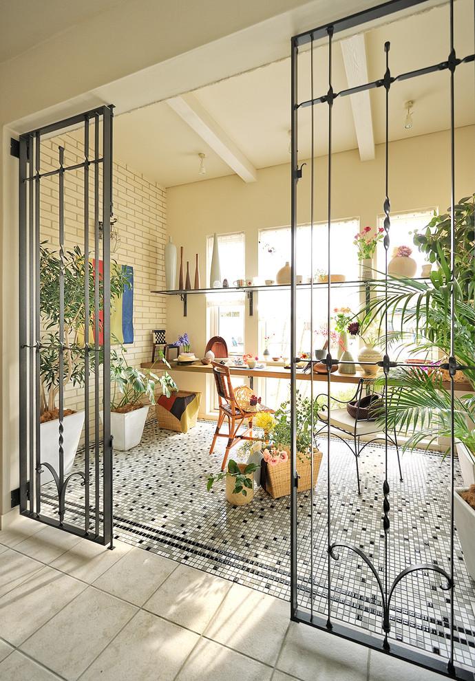 Eclectic Sunroom Design