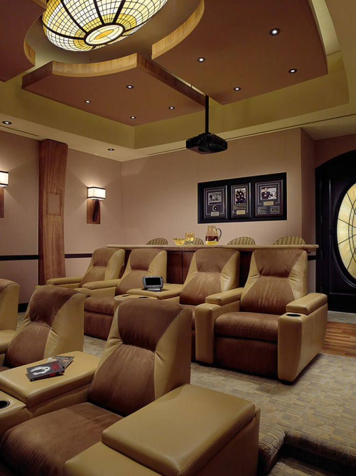 Mediterranean Home Theater Design