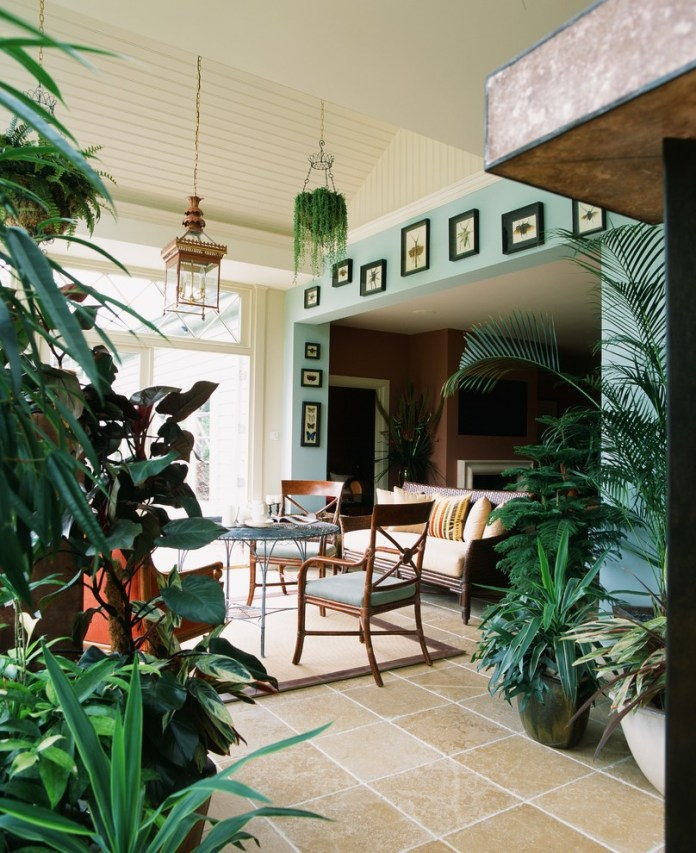 Mediterranean Sunroom Design