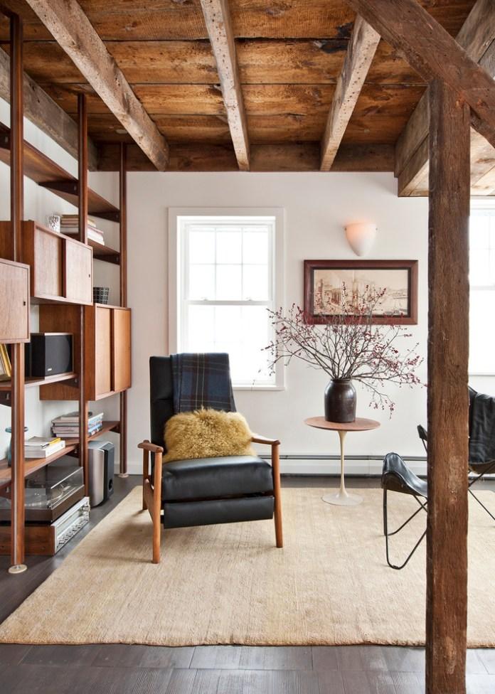 Rustic Family Room Design