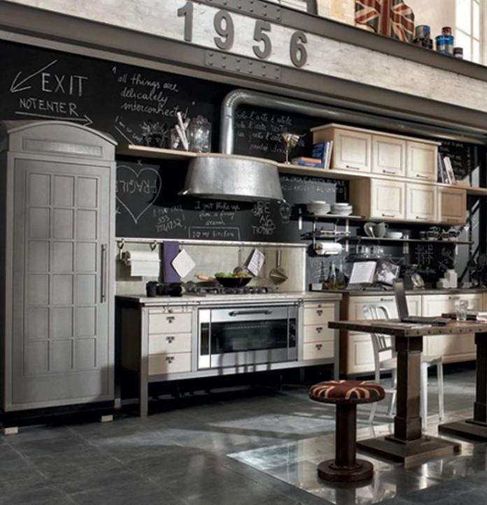 industrial-kitchen-with-chalkboard