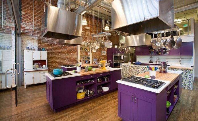 purple-industrial-kitchen