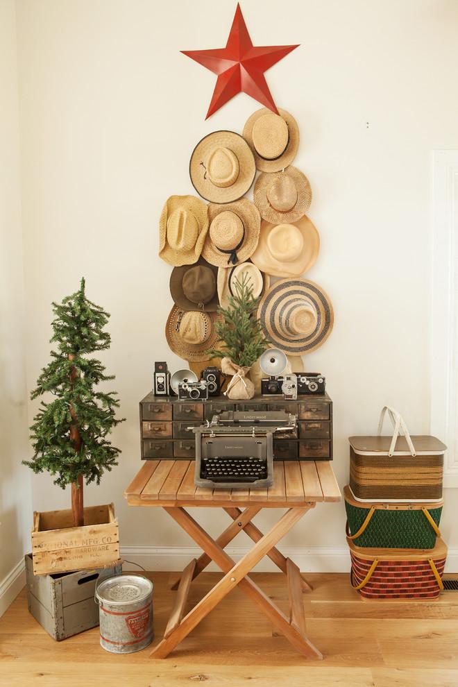 shabby-chic-style-family-room-christmas-decoration-ideas