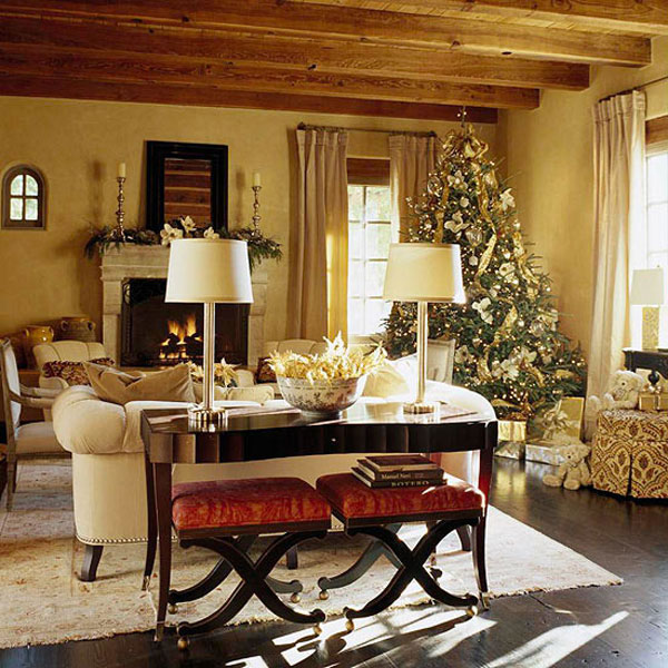 open-concept-living-room-christmas-decorations-ideas