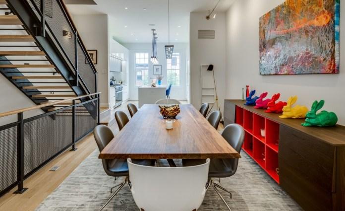 Grey Contemporary Dining Room