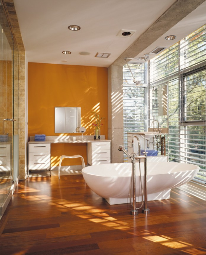 Industrial Bathroom With Bathtub