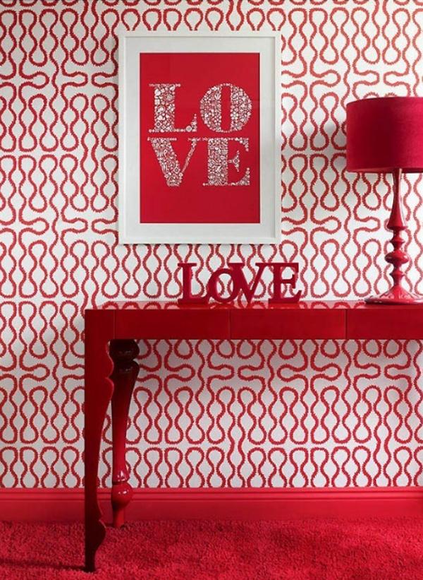 Romantic Red Valentine Decor Idea