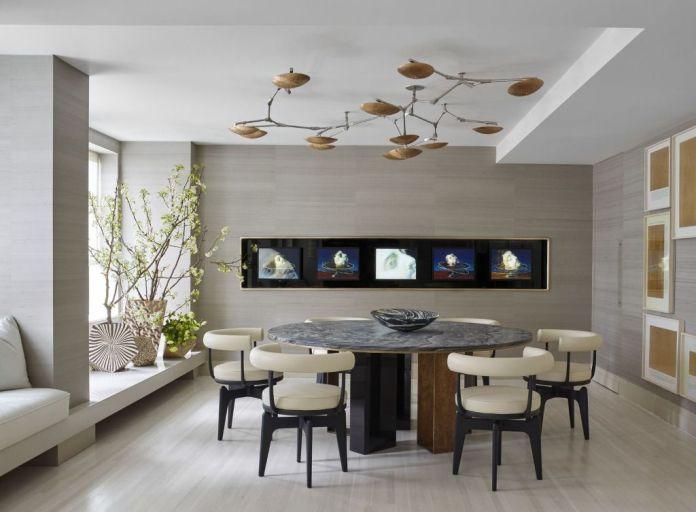 Spacious Contemporary Dining Room