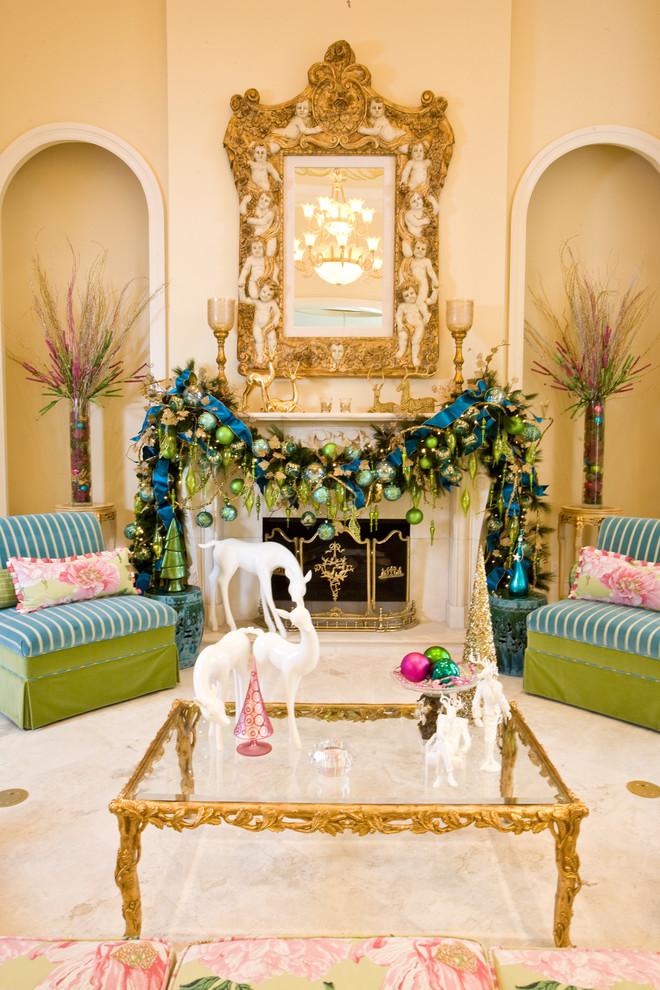 Mediterranean Living Room Christmas Decoration