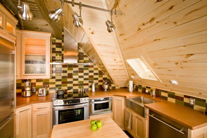 Attic American Kitchen Design