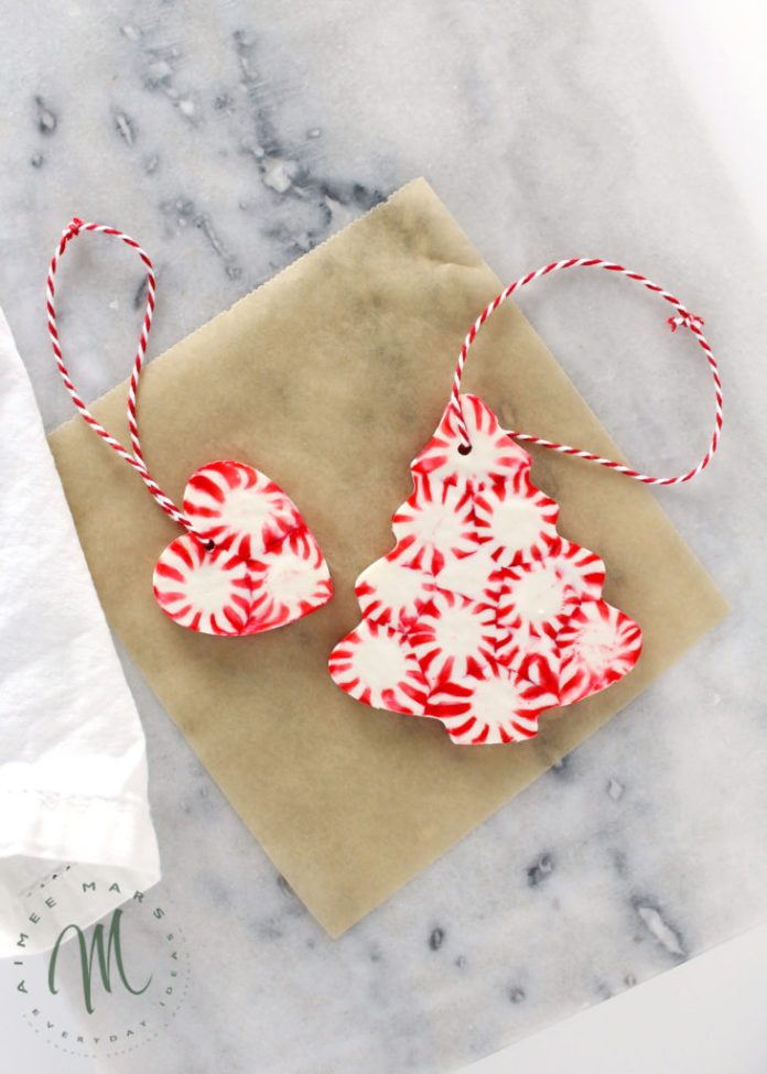 Peppermint Christmas Ornaments