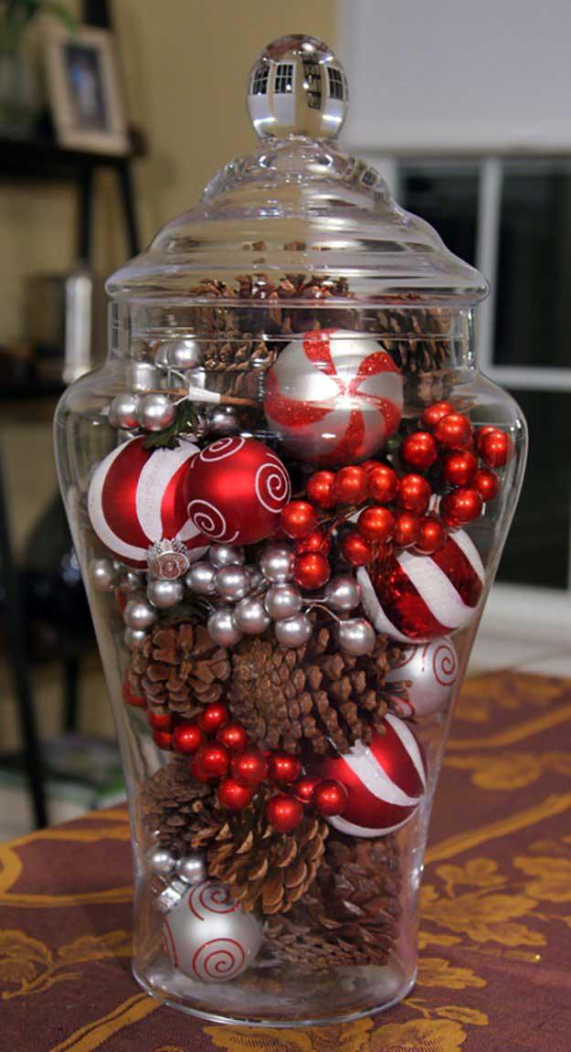 Christmas Centerpiece In A Jar