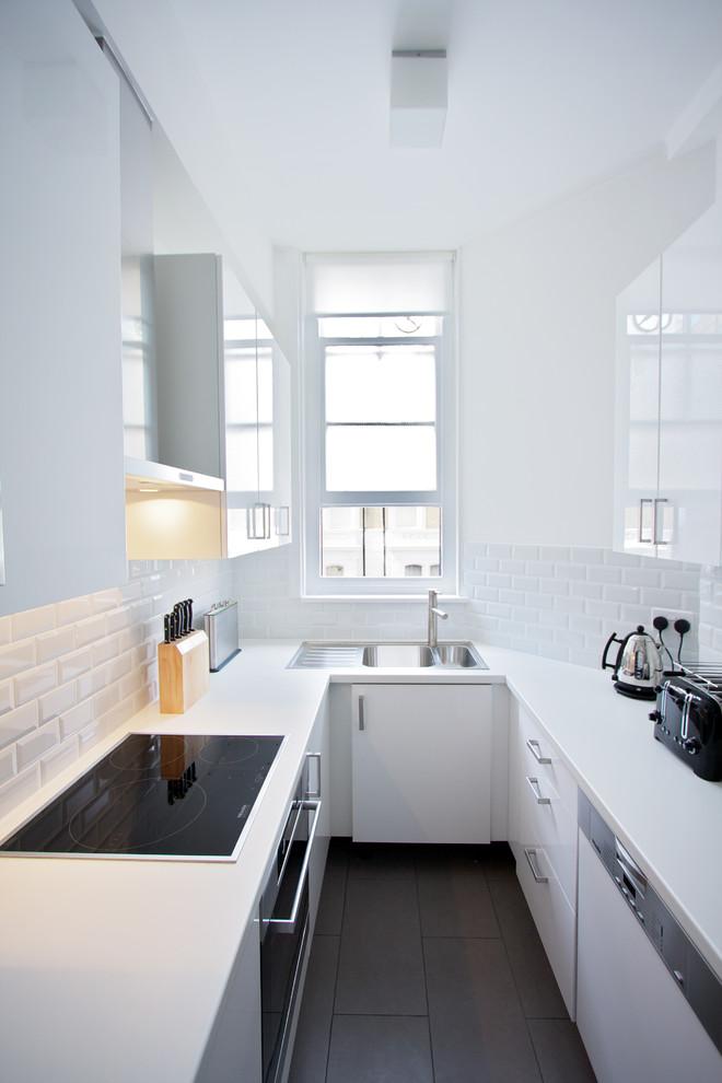 Contemporary U-shaped Small Kitchen Design