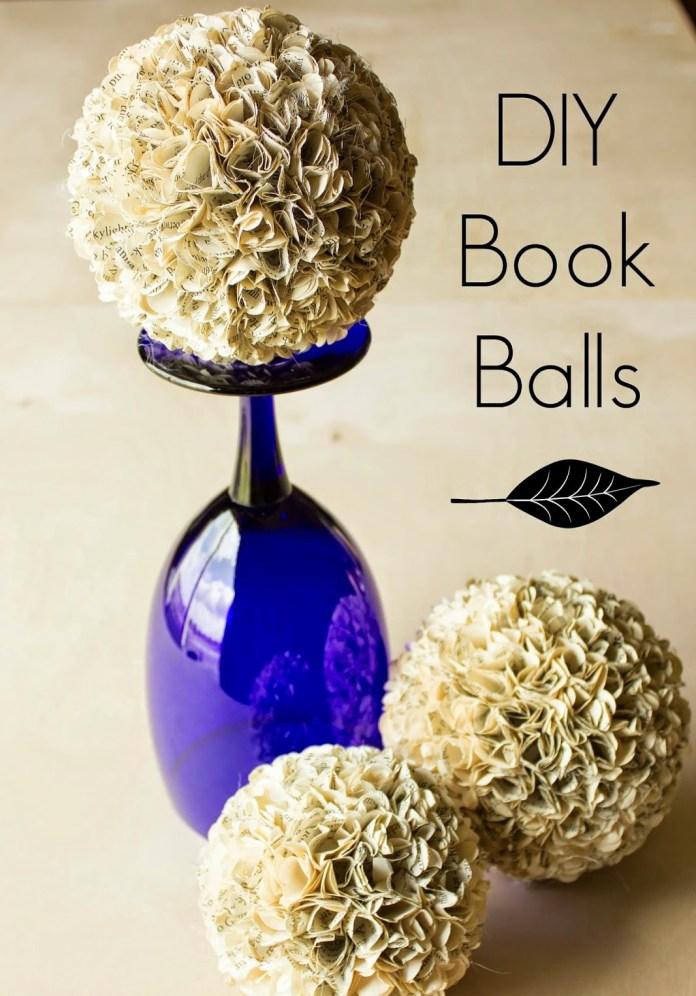 DIY Book Balls