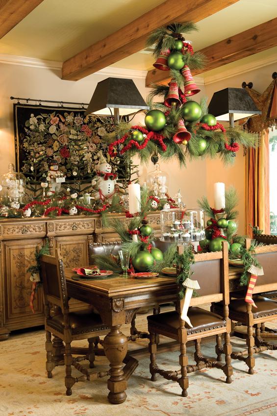 Christmas Dining Decoration Dwellingdecor