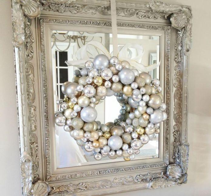 DIY Christmas Ornament Wreath Dwellingdecor